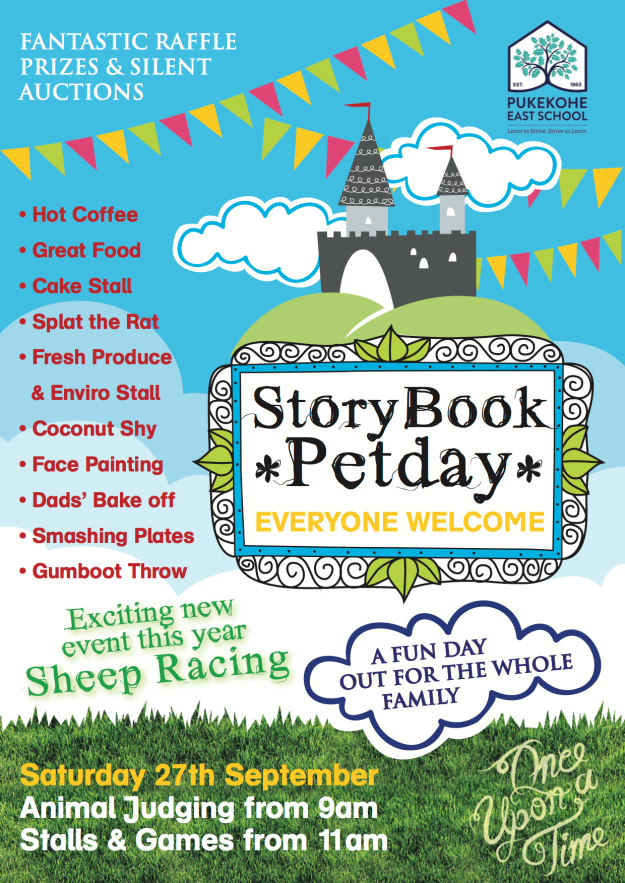 Storybook Pet Day flyer