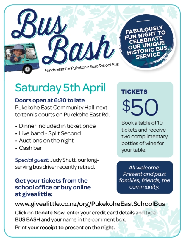 Bus Bash Flyer