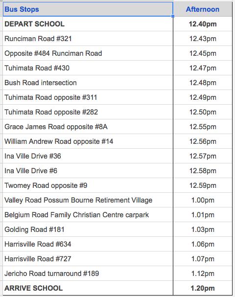 half-day-timetable